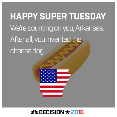 Happy Super Tuesday Arkansas!