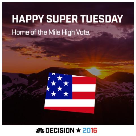 Happy Super Tuesday Colorado!