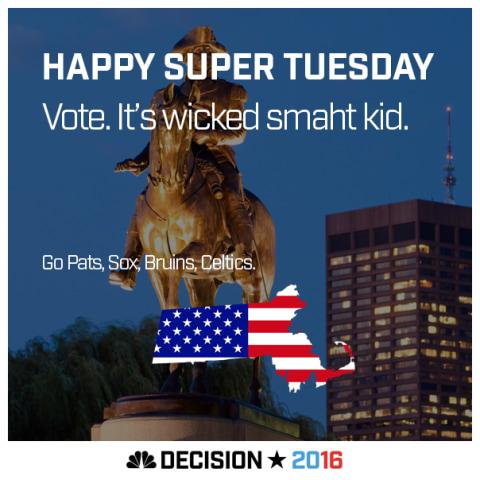 Happy Super Tuesday Massachusetts!