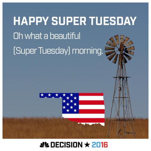 Happy Super Tuesday Oklahoma!