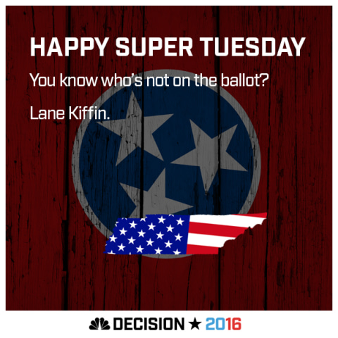 Happy Super Tuesday Tennessee!
