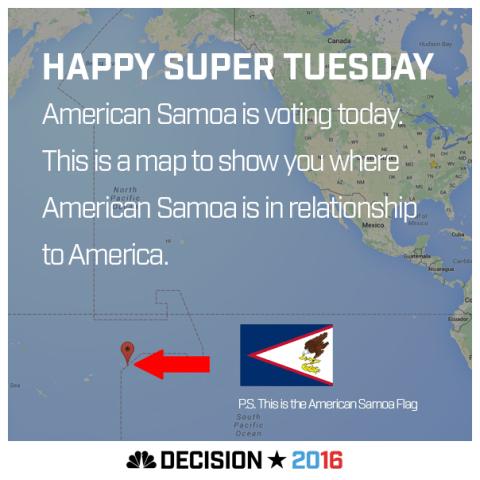Happy Super Tuesday American Samoa!