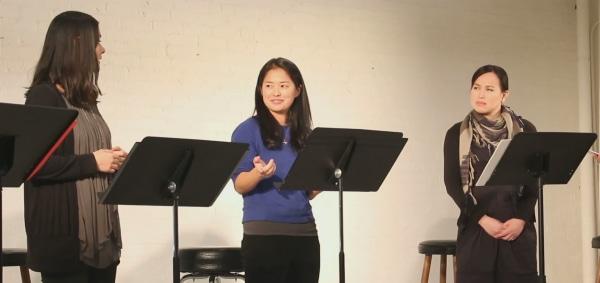 """Ms. Oriental"" reading: Mizuo Peck, Shannon Tyo, Ivory Aquino"