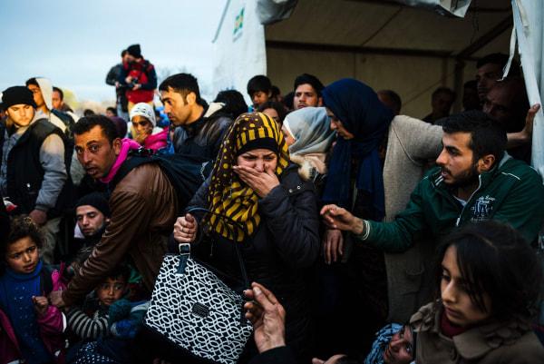 Image: Migrants in Idomeni