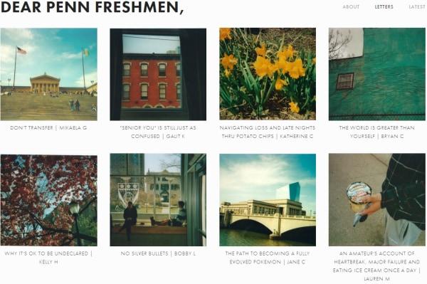 Image: Dear Penn Freshmen