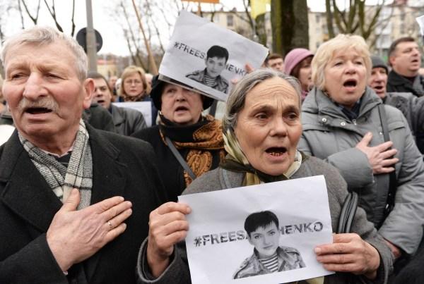 Image: A rally supporting Nadiya Savchenko in Lviv, Ukraine, on March 9