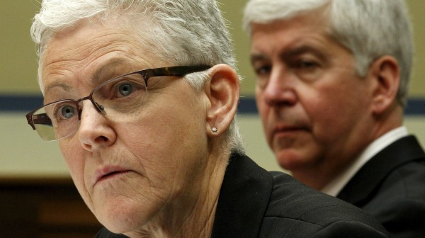 Image: Flint Michigan water hearing on Capitol in Washington