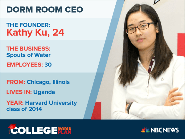 Dorm Room CEO: Meet Kathy Ku, who is creating the Brita of Africa