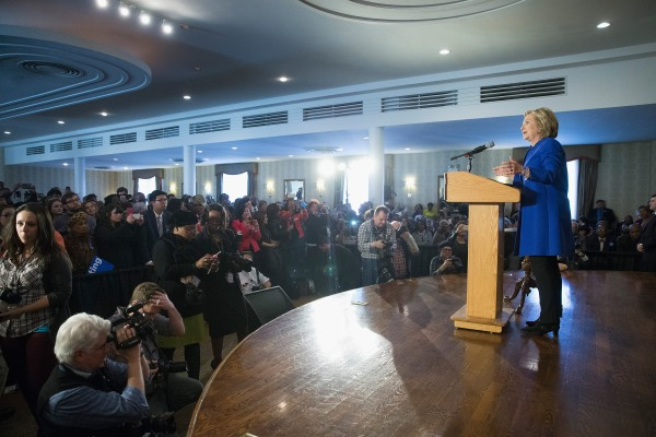 Hillary Clinton Attends A Get Out The Vote Rally In Chicago