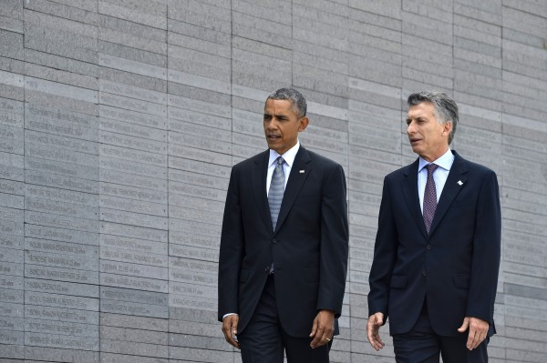 Image: ARGENTINA-US-OBAMA-MACRI-DIRTY WAR
