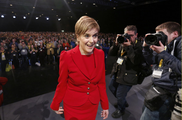 Image: Scotland's First Minister Nicola Sturgeon on March 12, 2016