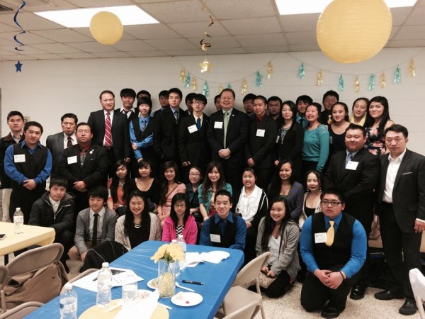 MN State Senator Foung Hawj in Wausau, Wisconsin, with Hmong youth