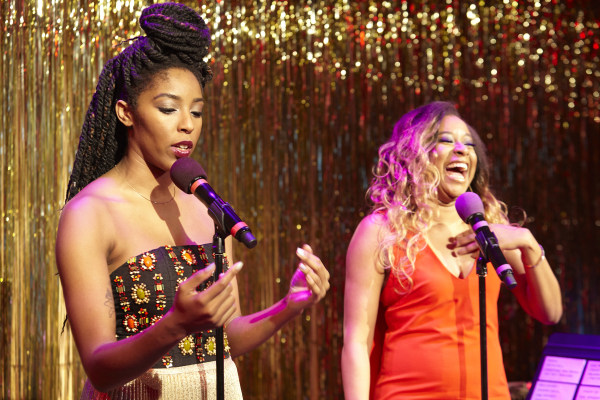 Jessica Williams, left, and Phoebe Robinson, right