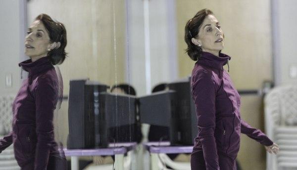 Lourdes Lopez in rehearsal.