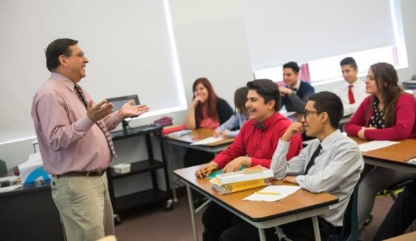 Cristo Rey Jesuit High School in Chicago helps its low-income Hispanic students cover tuition through a work-study program.