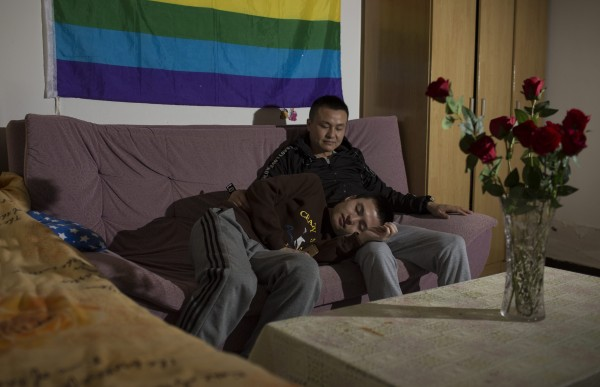 Image: Sun Wenlin (a pseudonym, R) and his partner Hu Mingliang