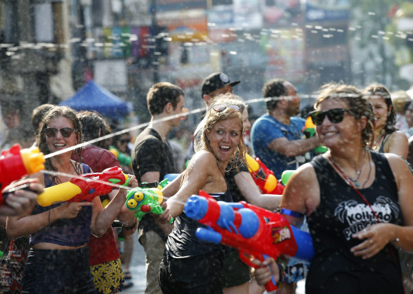 Image: Songkran celebrations in Bangkok