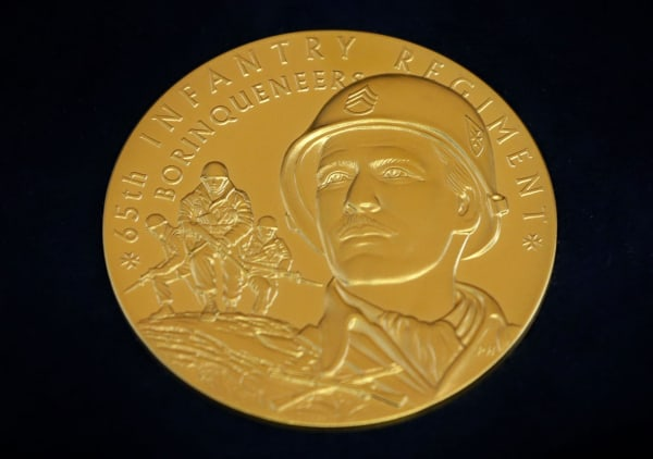 Image: Congressional Gold Medal Awarded To Puerto Rican Military Unit At US Capitol