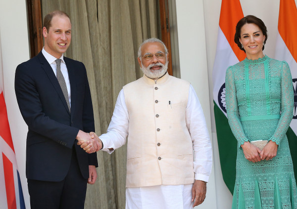 Image: Royal couple in New Delhi