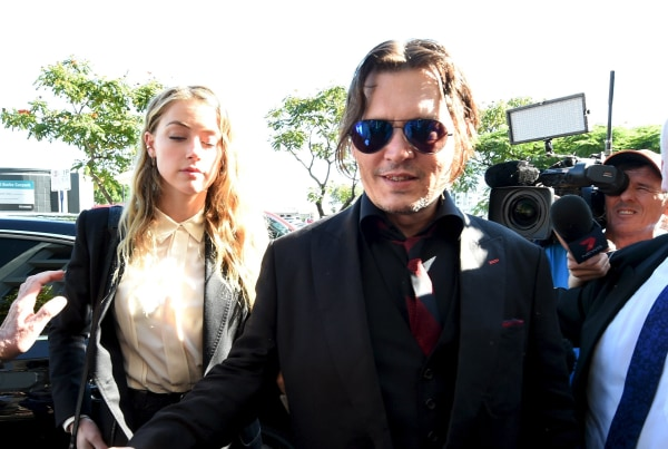 Image: Johnny Depp and Amber Heard