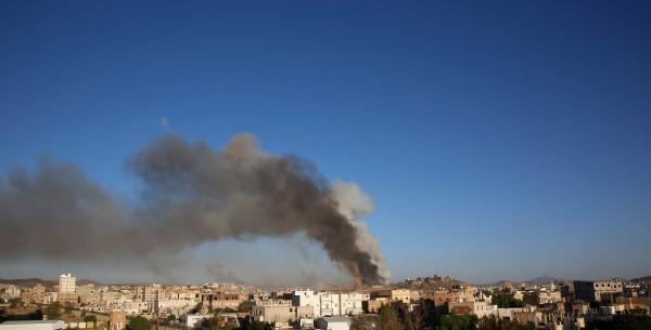 Image: Saudi-led airstrike in Yemen