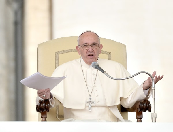 Pope Francis celebrates the General Audience on Wednesday.
