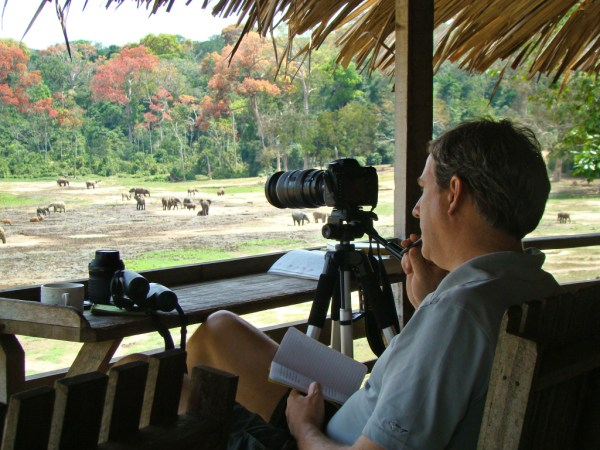 Cristian Samper, CEO of Wildlife Conservation Society, photographed in the Congo in January 2012.