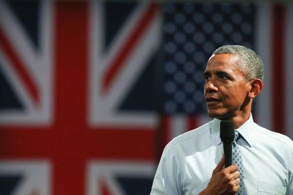 Image: Barack Obama in London on April 23, 2016