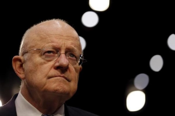 "Director of National Intelligence (DNI) James Clapper testifies before a Senate Intelligence Committee hearing on ""Worldwide threats to America and our allies"" in Capitol Hill, Washington"