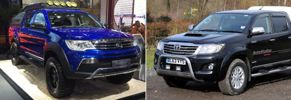 Image: Changfeng Leopaard and Toyota Hilux