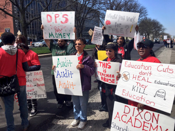 Image: Detroit Teacher protest