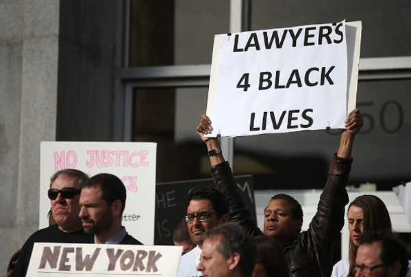"""San Francisco Public Attorneys Hold """"Hands Up, Don't Shoot"""" Demonstration"""