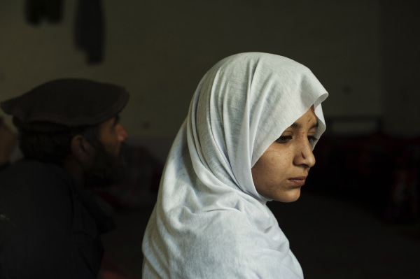 """Shakila, who was abducted in the act of """"baad"""" and escaped."""