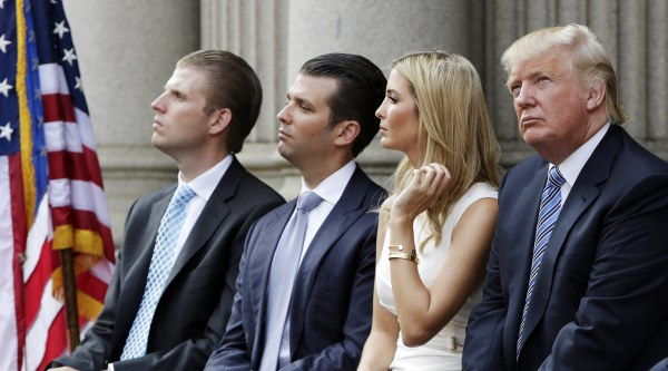 Image: Trump family attends ground breaking of new hotel in Washington