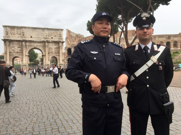 Image: Bo Pang and Italian police officer