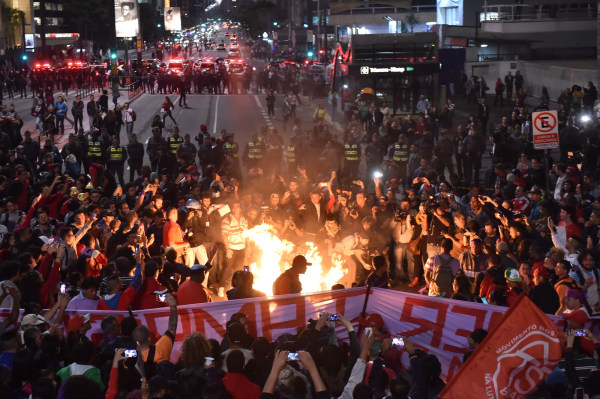 Image: Protests in Sao Paolo