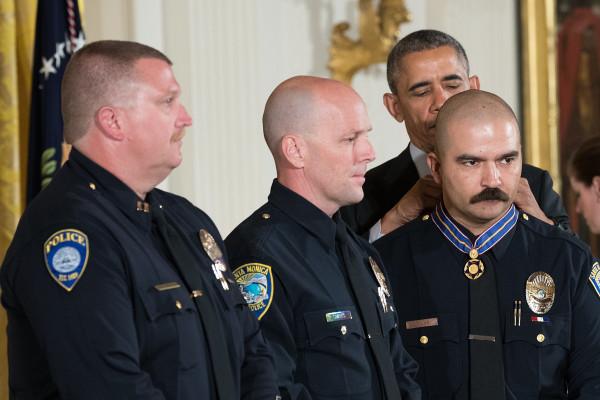 Image: President Obama Awards Presidential Medals Of Valor At The White House