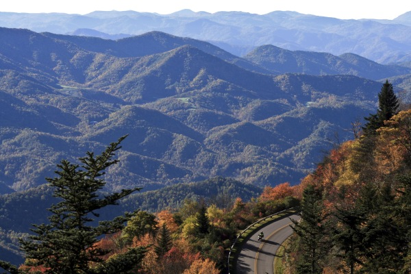 Image: The Blue Ridge Parkway near Asheville, N.C.