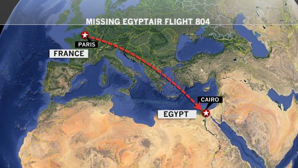 Image: MS804 flight map