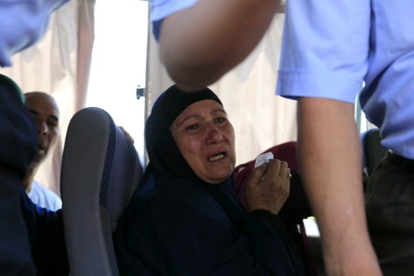Image: A relative of missing Egyptair flight