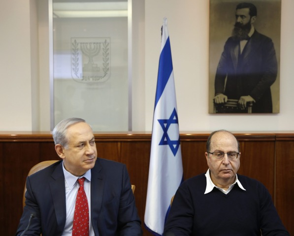 Image: Israel's Prime Minister Benjamin Netanyahu and Defense Minister Moshe Yaalon