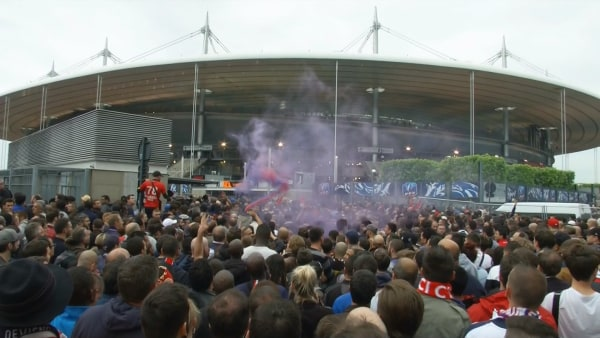 Image: Fans outside the Stade de France on May 21, 2016