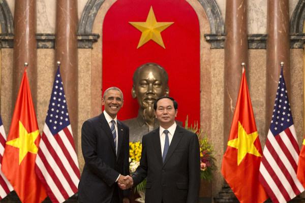 Image: Barack Obama, Tran Dai Quang