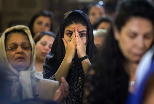 Image: Coptic Christians attend prayers for the victims of EgyptAir Flight 804 in Cairo