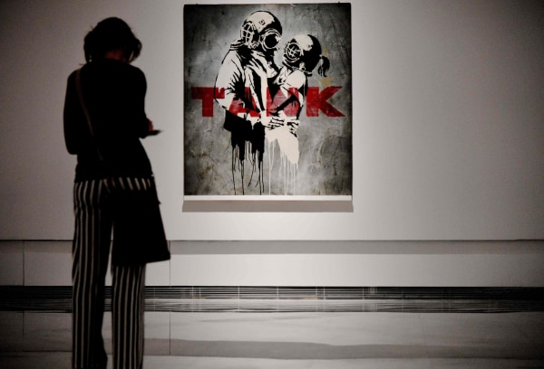 "Image: ""Think Tank"" by Banksy."
