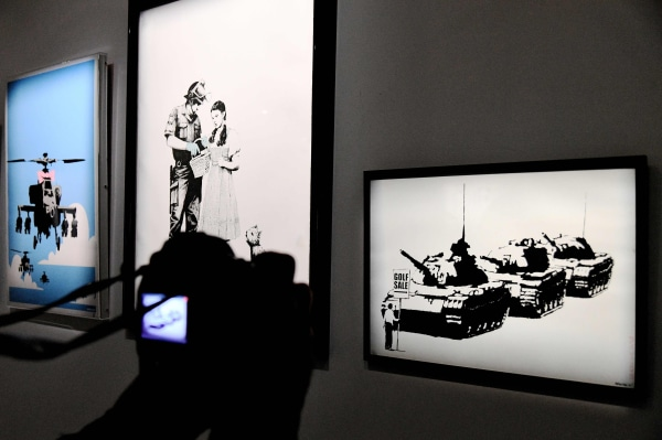 Image: Works by Banksy