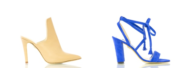 Shoes from Daniela and Roberta Nunez's David Isaac collection.