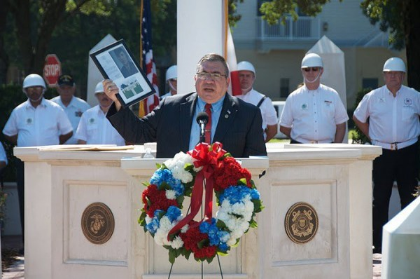 Lawrence Romo speaking in Celebration, Florida at a Memorial Day speech on May 28, 2011.