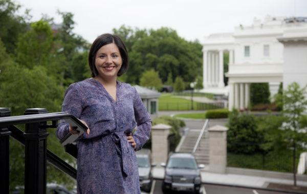 Image: Young Latinos of the Obama White House . Former staffer Stephanie Valencia.