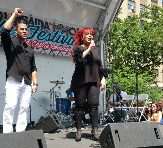 J.W. Cortes and Iris Chac?n at the 2016 Loisaida Festival May 29, 2016.